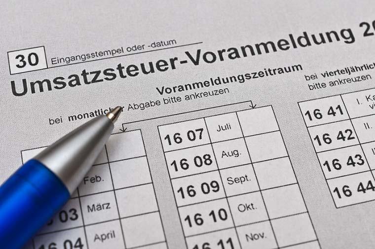 Umsatzsteuer-Voranmeldung Finanzamt