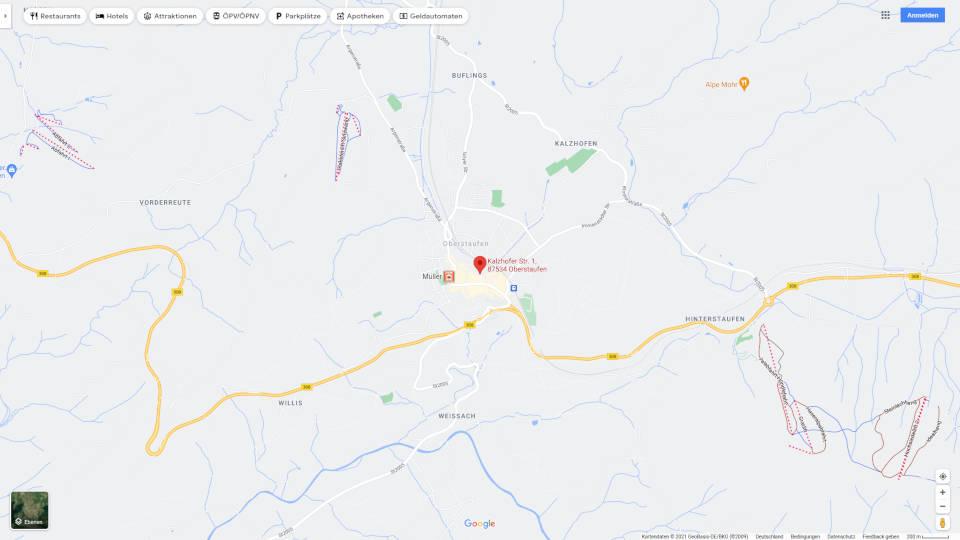 Google map location